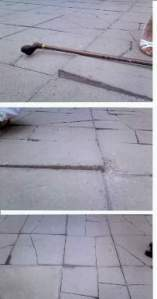 Recent pics of the damaged paving