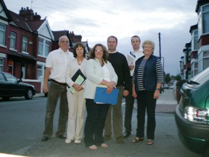 L to R, Me, Marg  Kalil, Alex, Cllr Simon Mountney, Cllr ian Lewis, Anne Lavin