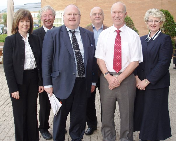 L to R.Cllr Leah Fraser, Cllr Jeff Green, Eric Pickles MP, Me, Cllr Denis Knowles, Cllr Lesley Rennie