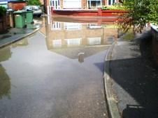 Ambleside Avenue flooded with sewage