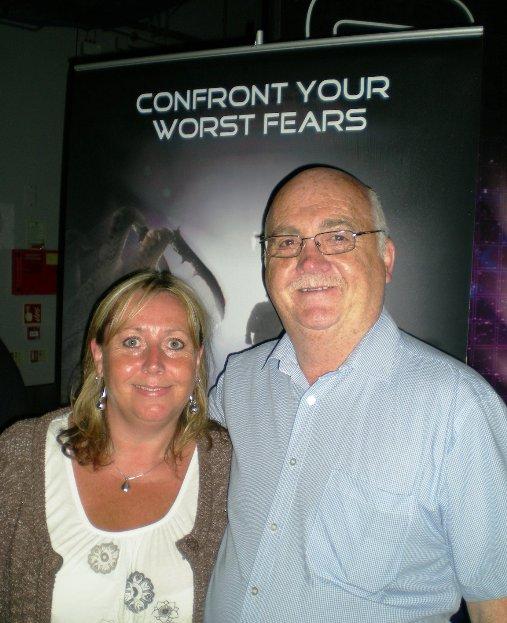 Cllr Sue Taylor and Me at the venue