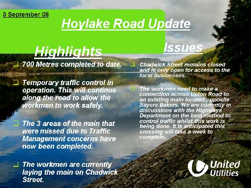 Hoylake Road Update 03_09_09