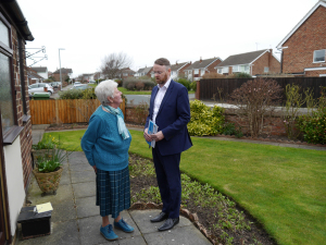 Ian has been out and about meeting residents - such as Brenda, in Northcote Road.
